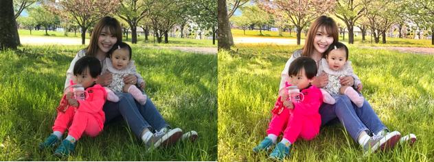 撮影後に、アプリで編集するだけで家族写真も大きく印象が変わる